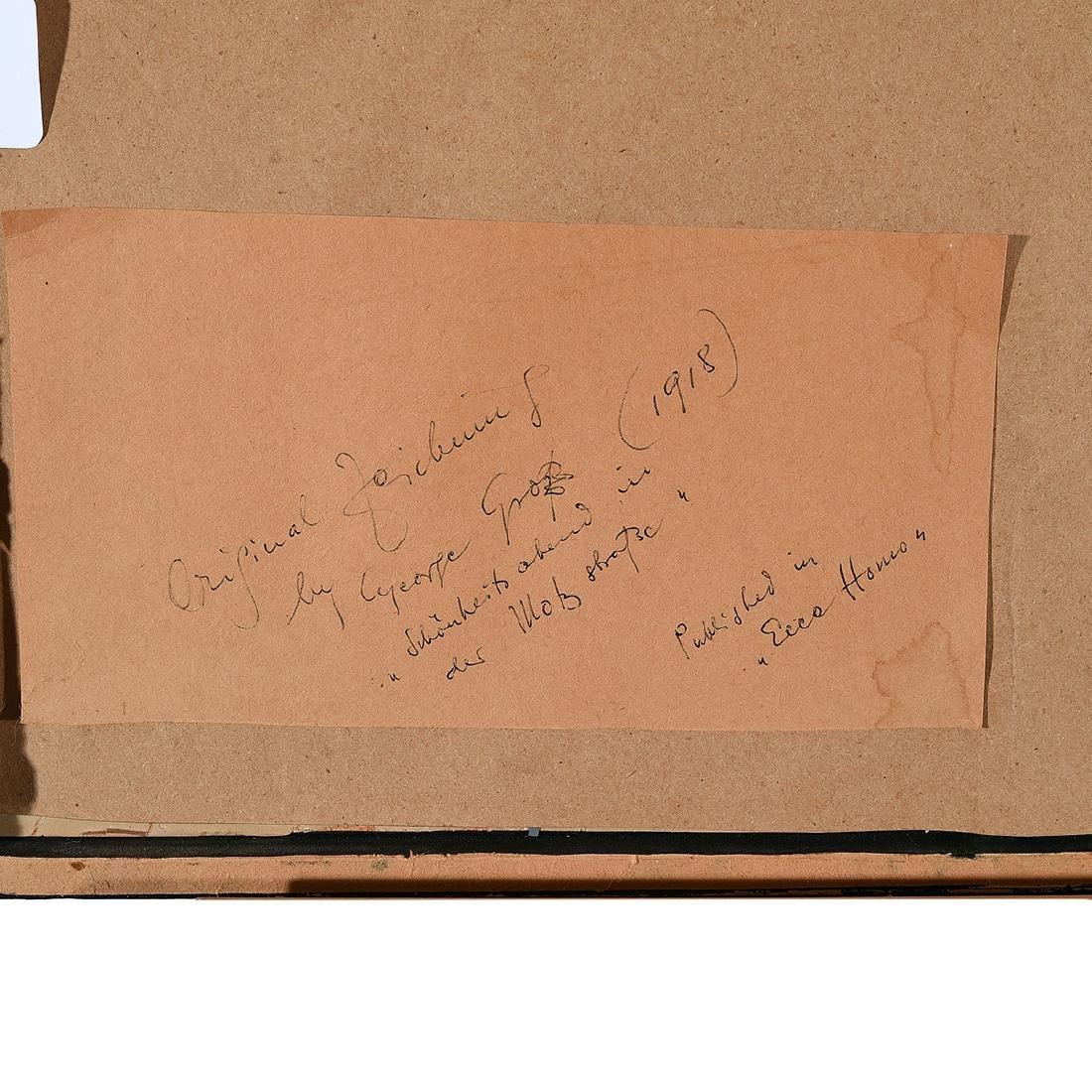 "George Grosz ""Bar Scene"" lithograph - 6"