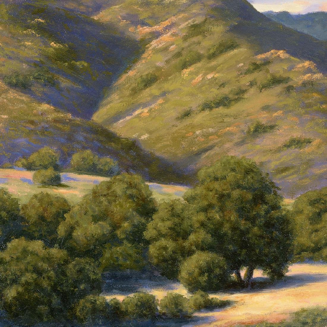 "California School ""Hills with Clouds"" oil on board - 2"