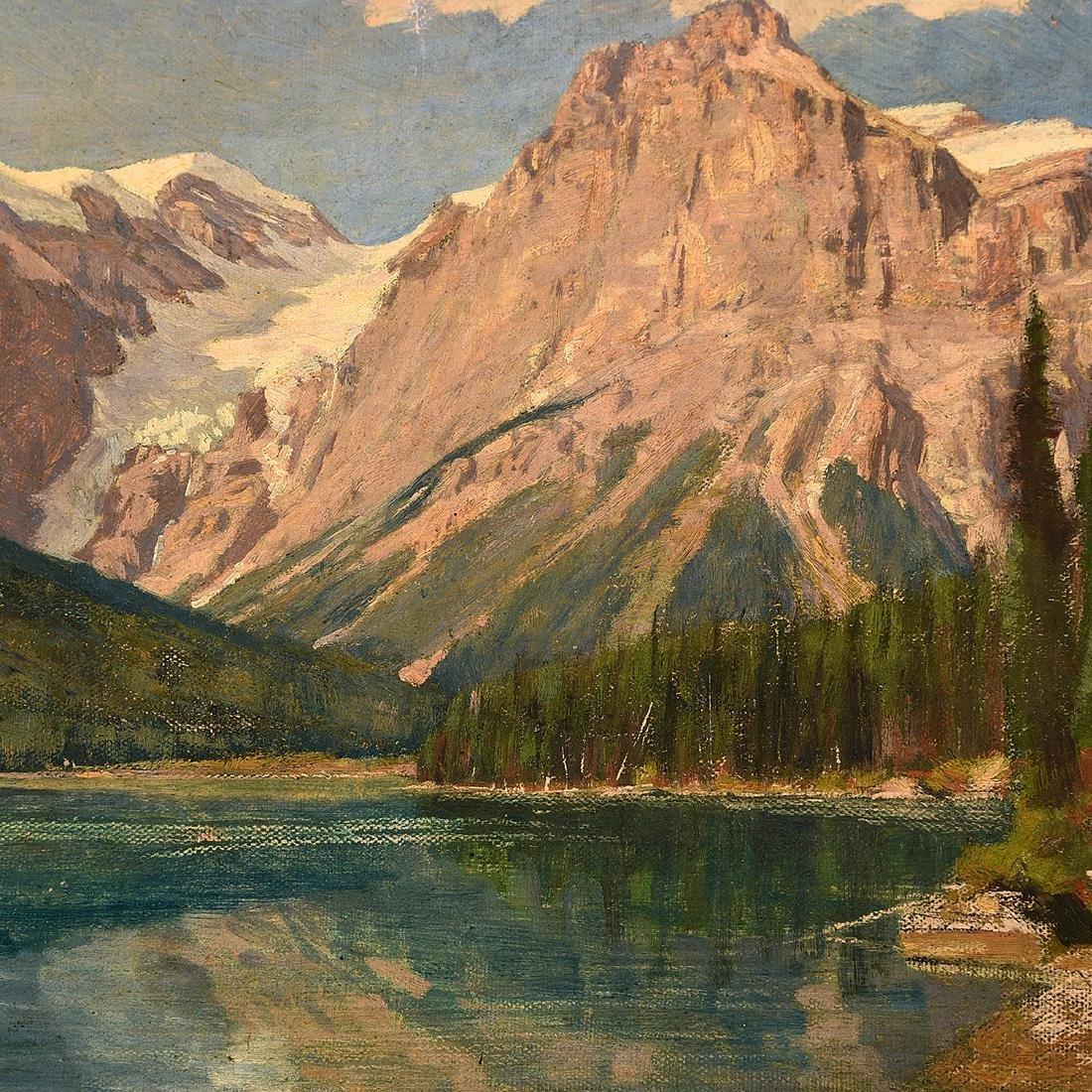 "Franz Biberstein ""Mountain Landscape"" and ""Rushing - 2"