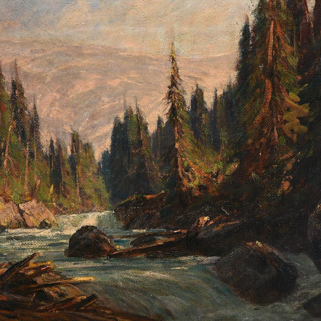 "Franz Biberstein ""Mountain Landscape"" and ""Rushing - 3"