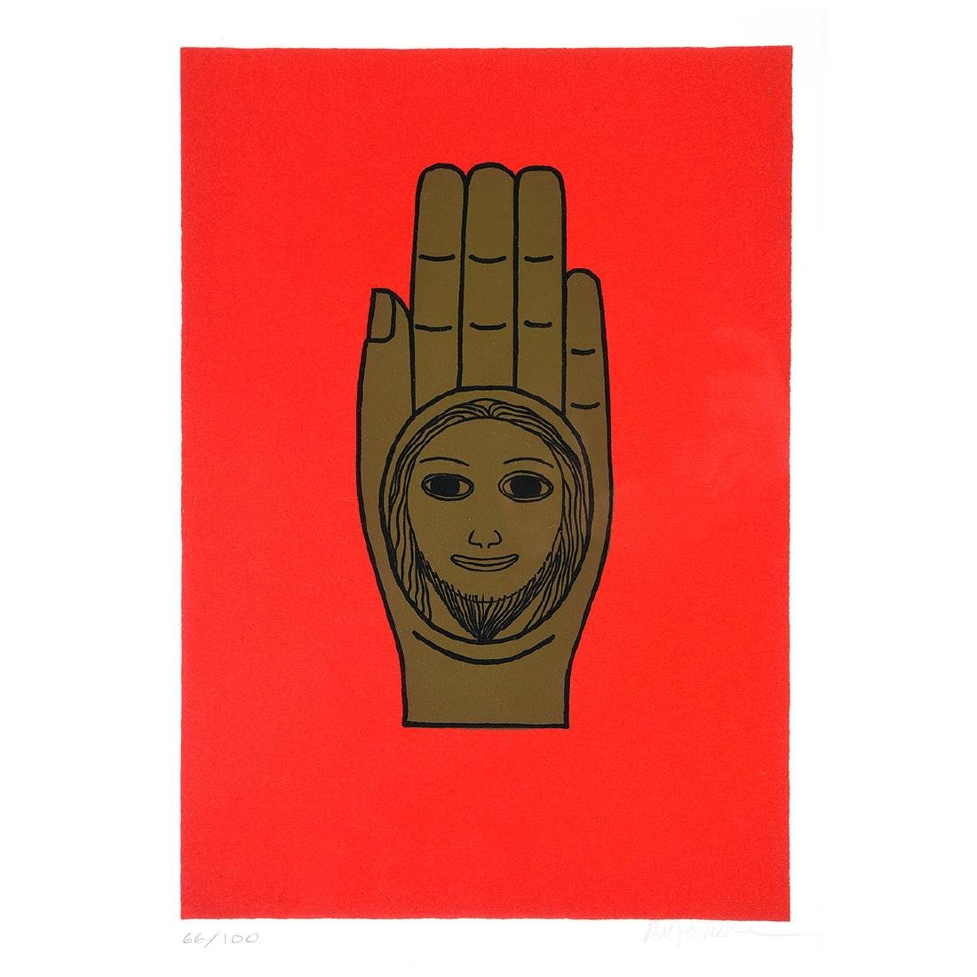 "Benny Bufano ""The Hand of Peace"" lithograph"