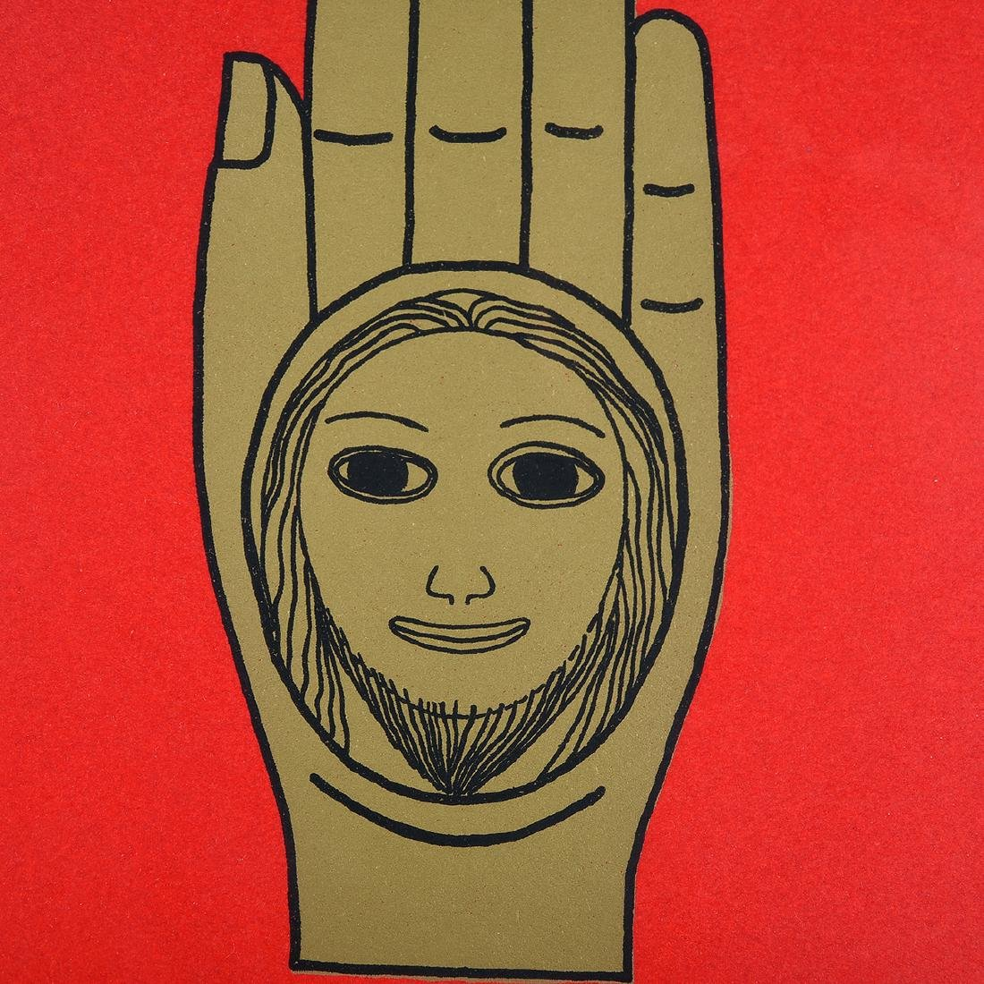 """Benny Bufano """"The Hand of Peace"""" lithograph - 4"""