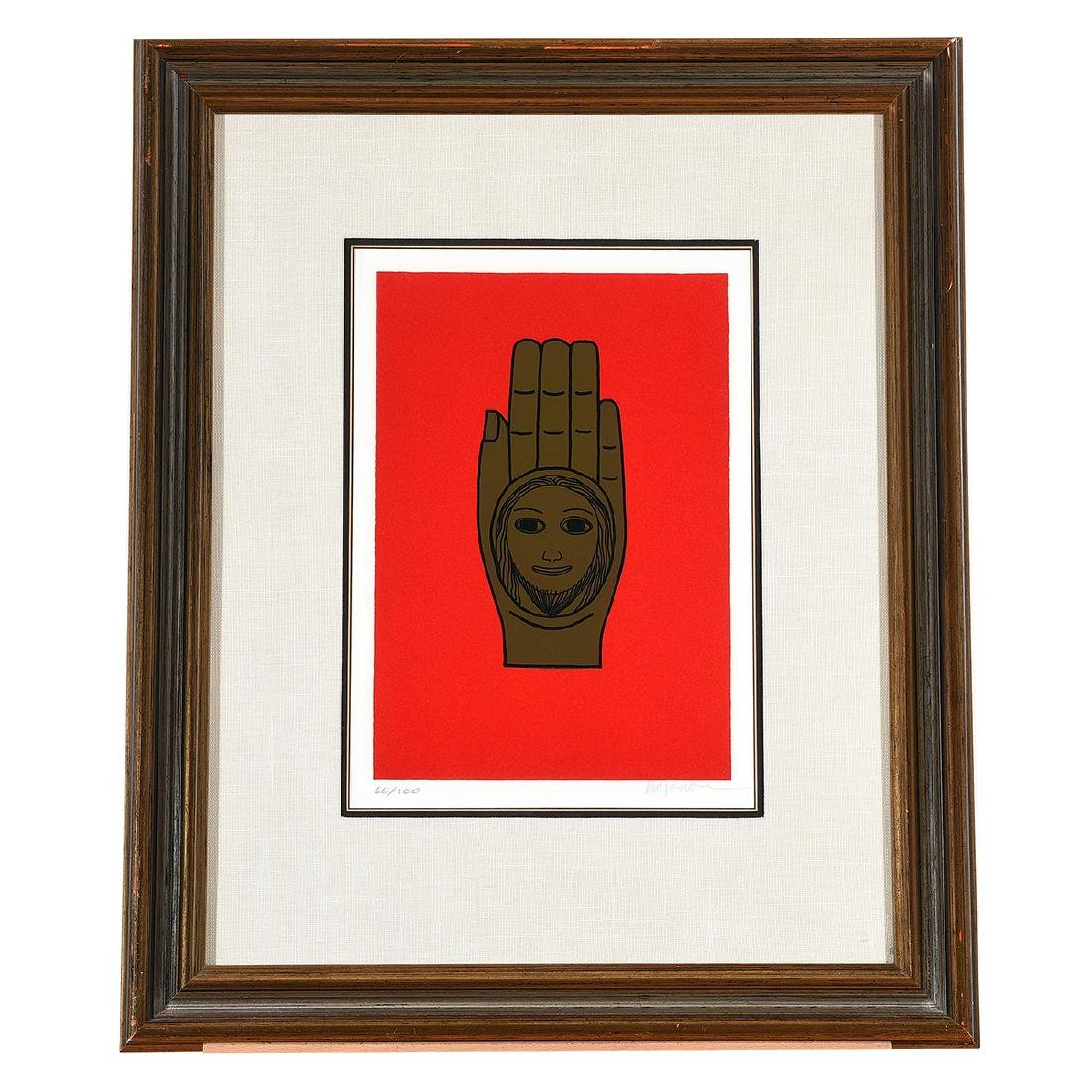 """Benny Bufano """"The Hand of Peace"""" lithograph - 5"""