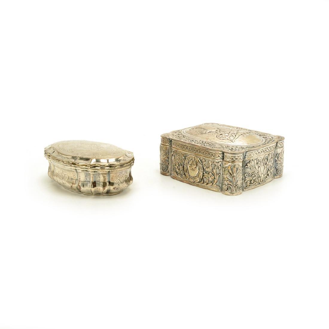 Seven Silver Snuff Boxes and Cigarette Cases - 10