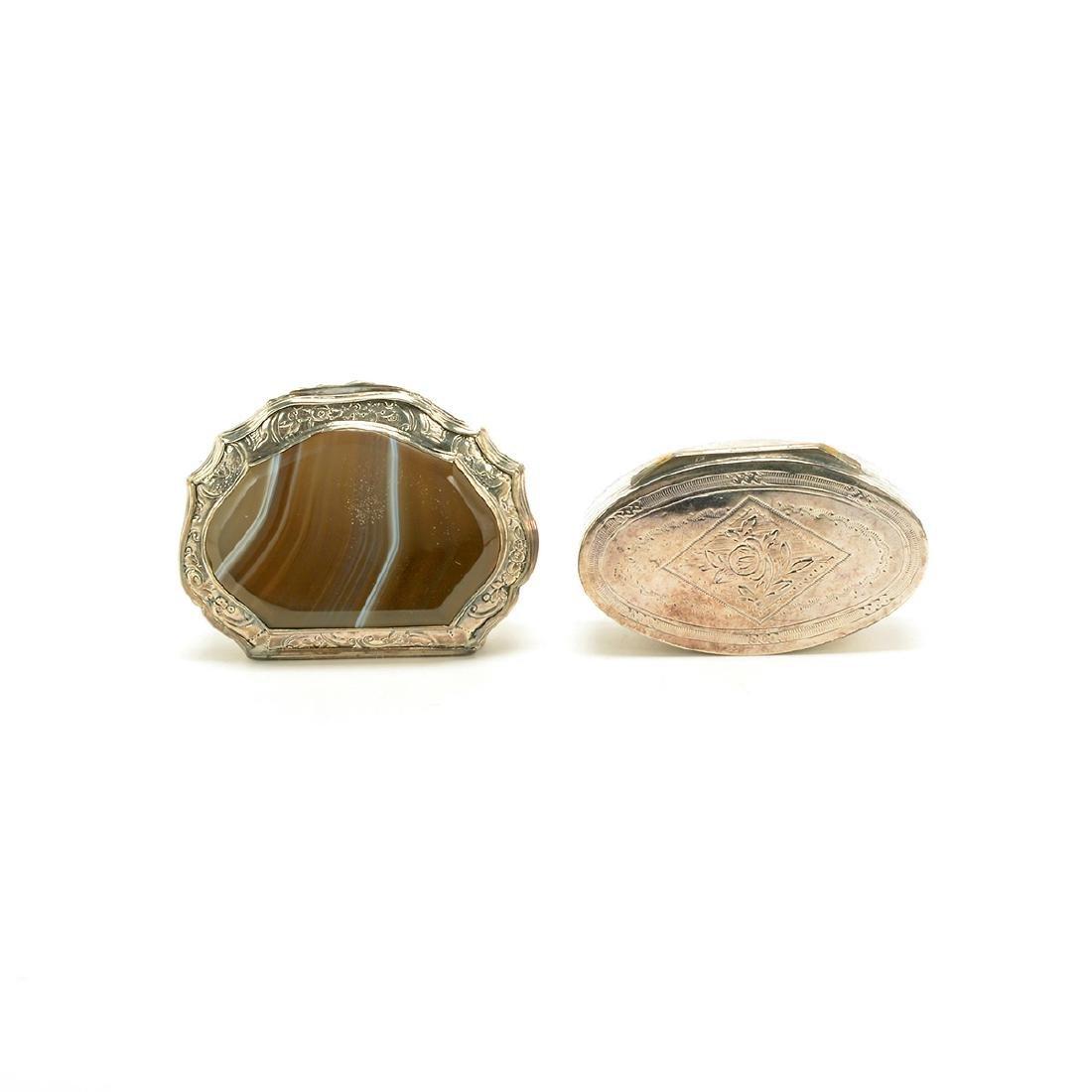 Seven Silver Snuff Boxes and Cigarette Cases - 2