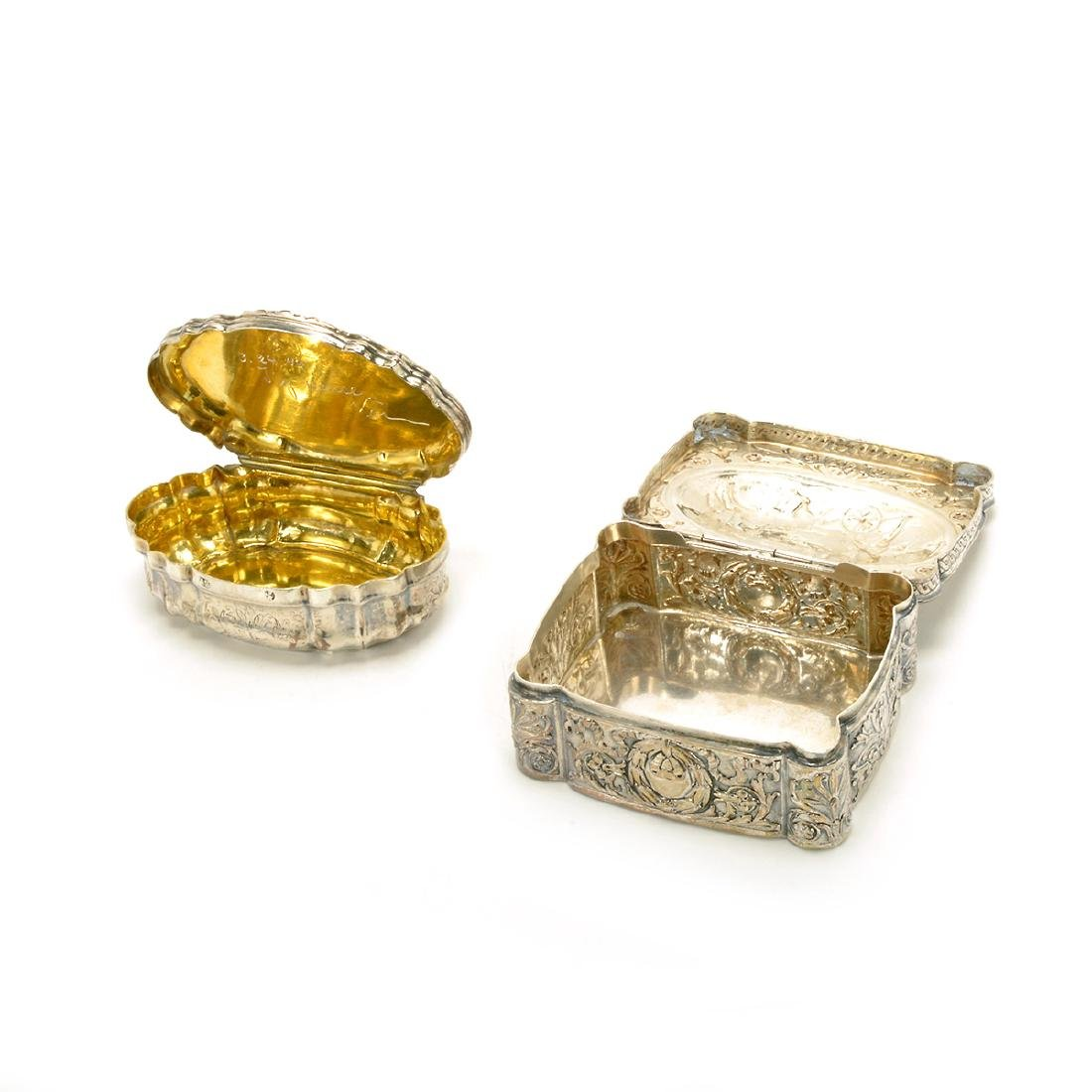 Seven Silver Snuff Boxes and Cigarette Cases - 4