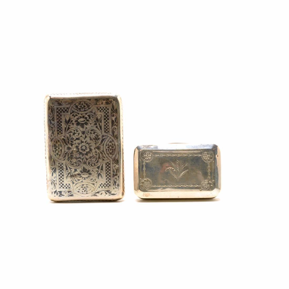 Seven Silver Snuff Boxes and Cigarette Cases - 3
