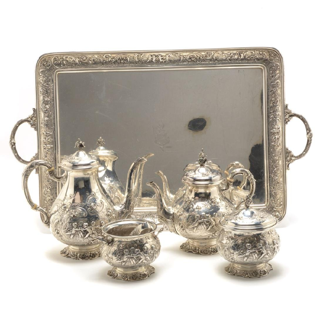 Marshall Fields Sterling Coffee and Tea Set