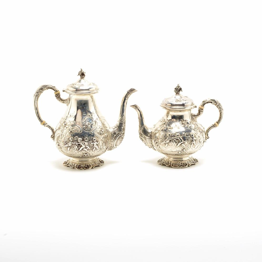 Marshall Fields Sterling Coffee and Tea Set - 3