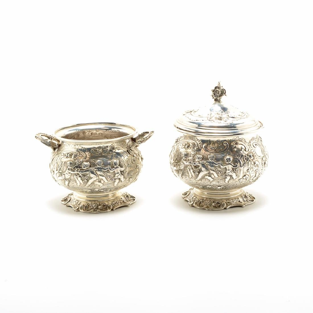 Marshall Fields Sterling Coffee and Tea Set - 4