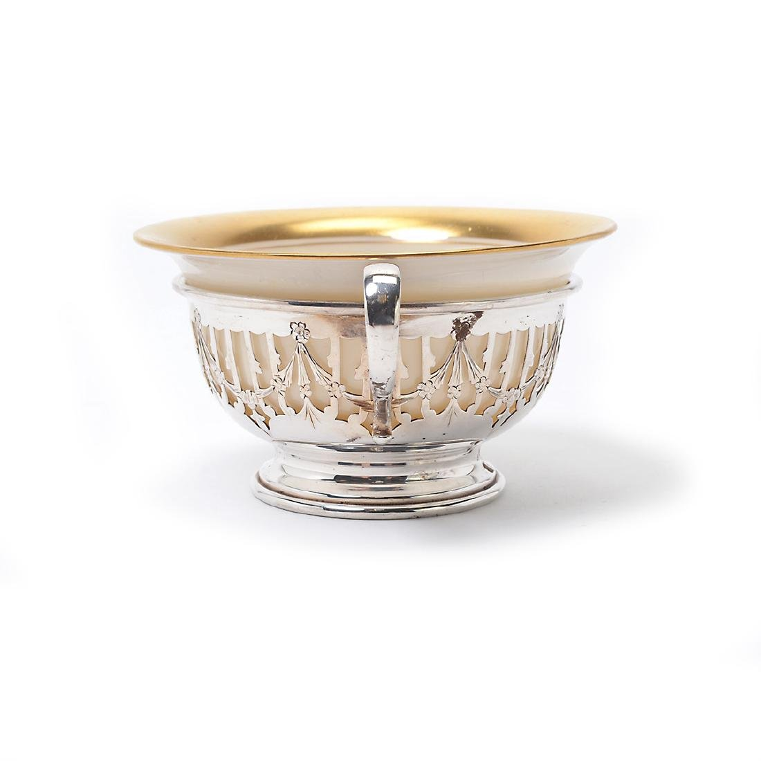 Suite of Nine Gorham Sterling Silver Glass Wine Glasses; - 8