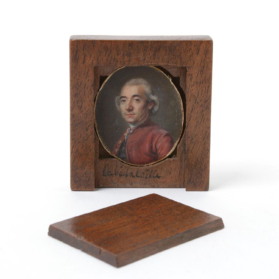Two Portrait Miniatures: one of a gentleman, the other - 4