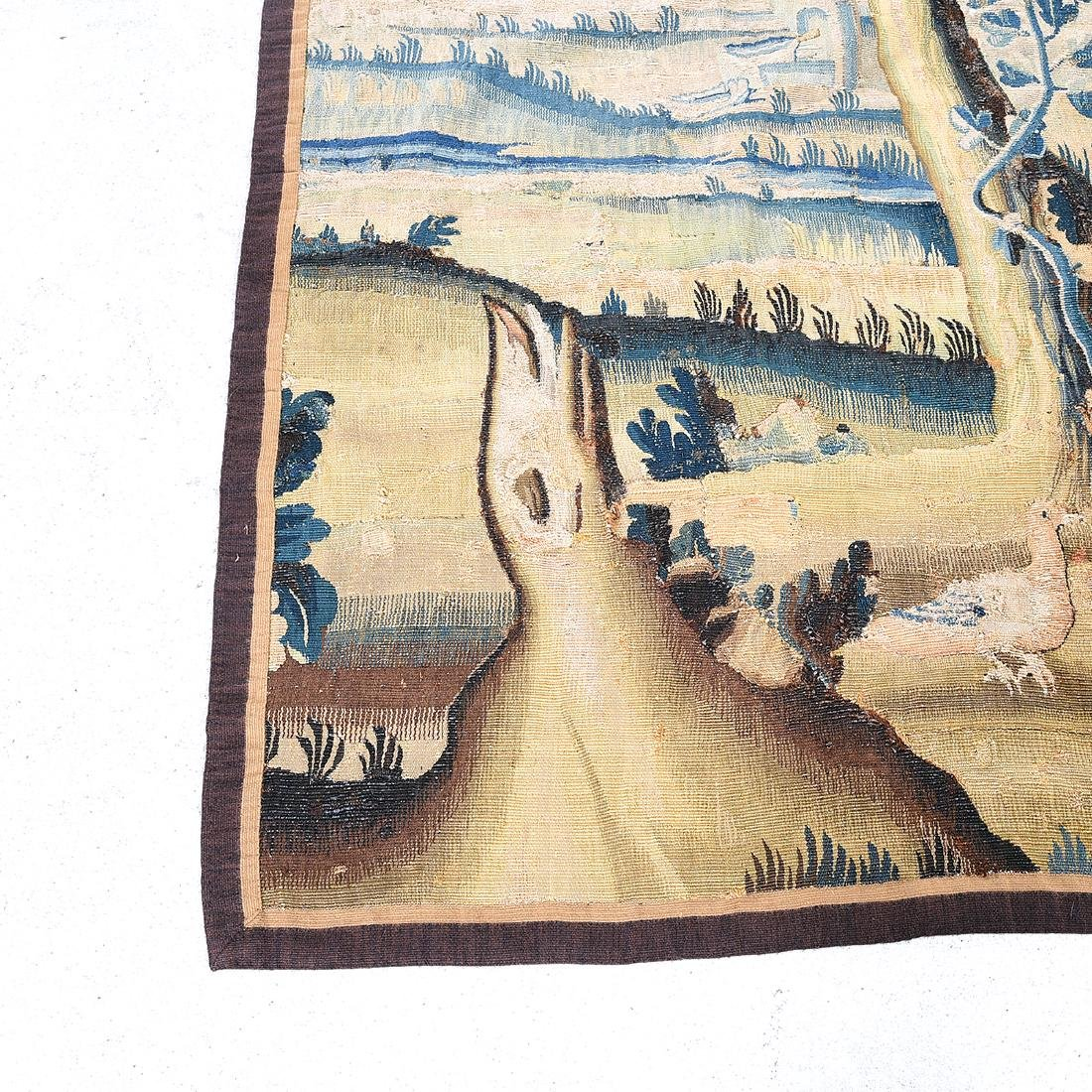 Large Flemish Woven Tapestry, with Forest  Scene in - 2