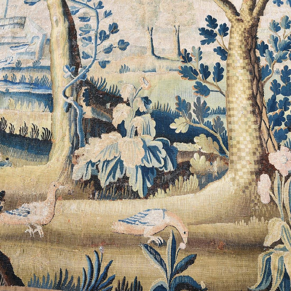 Large Flemish Woven Tapestry, with Forest  Scene in - 3