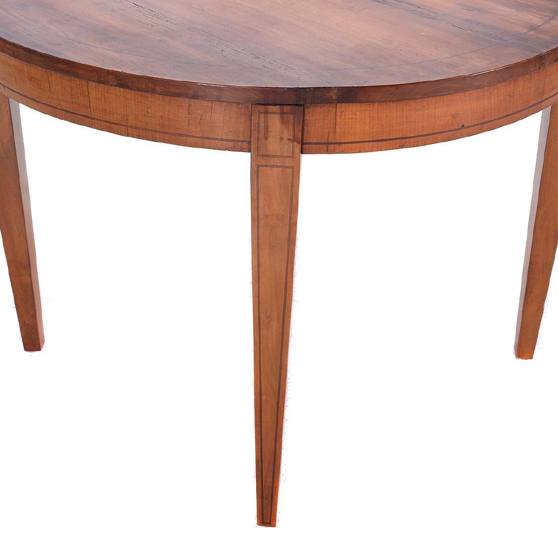 Italian Neoclassical Style Inlaid Fruitwood Circular - 3