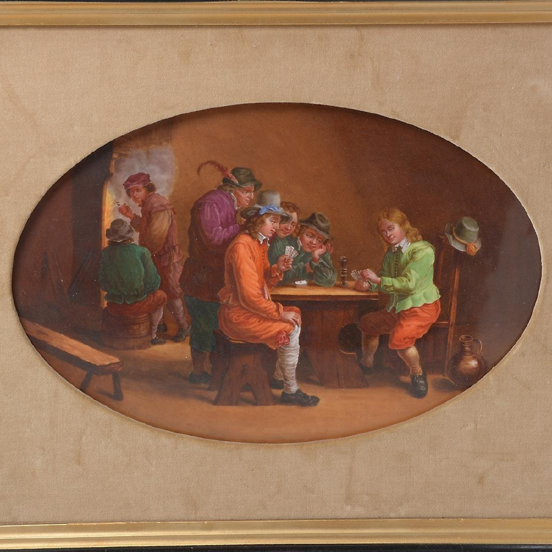 French Porcelain Plaque of Tavern Scene - 2