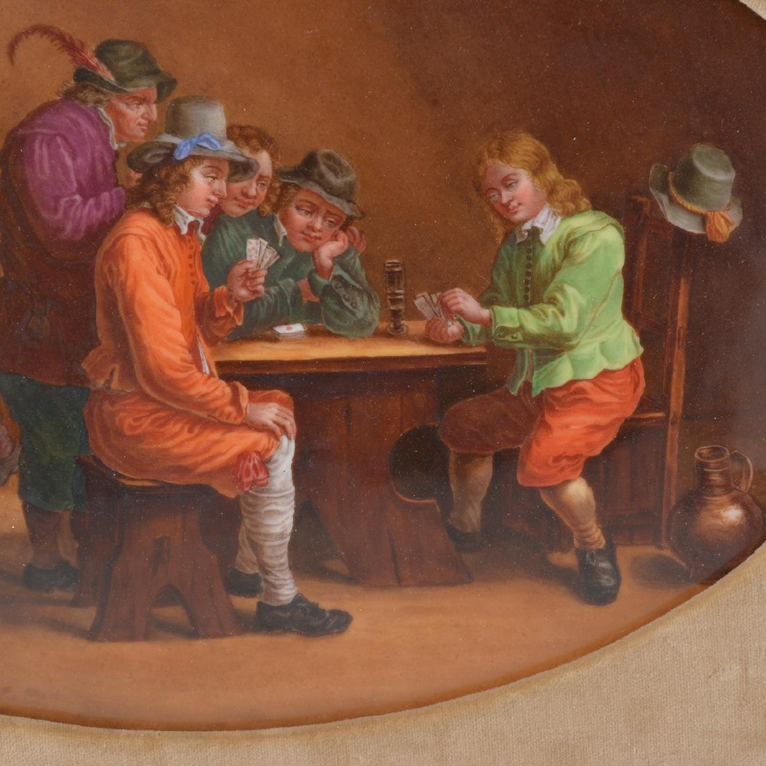 French Porcelain Plaque of Tavern Scene - 4