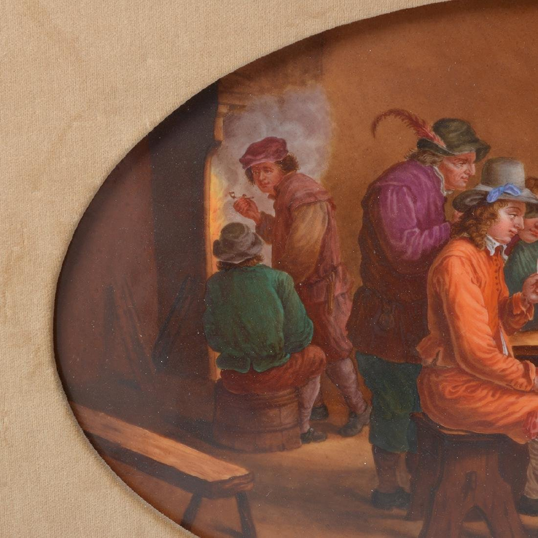 French Porcelain Plaque of Tavern Scene - 5