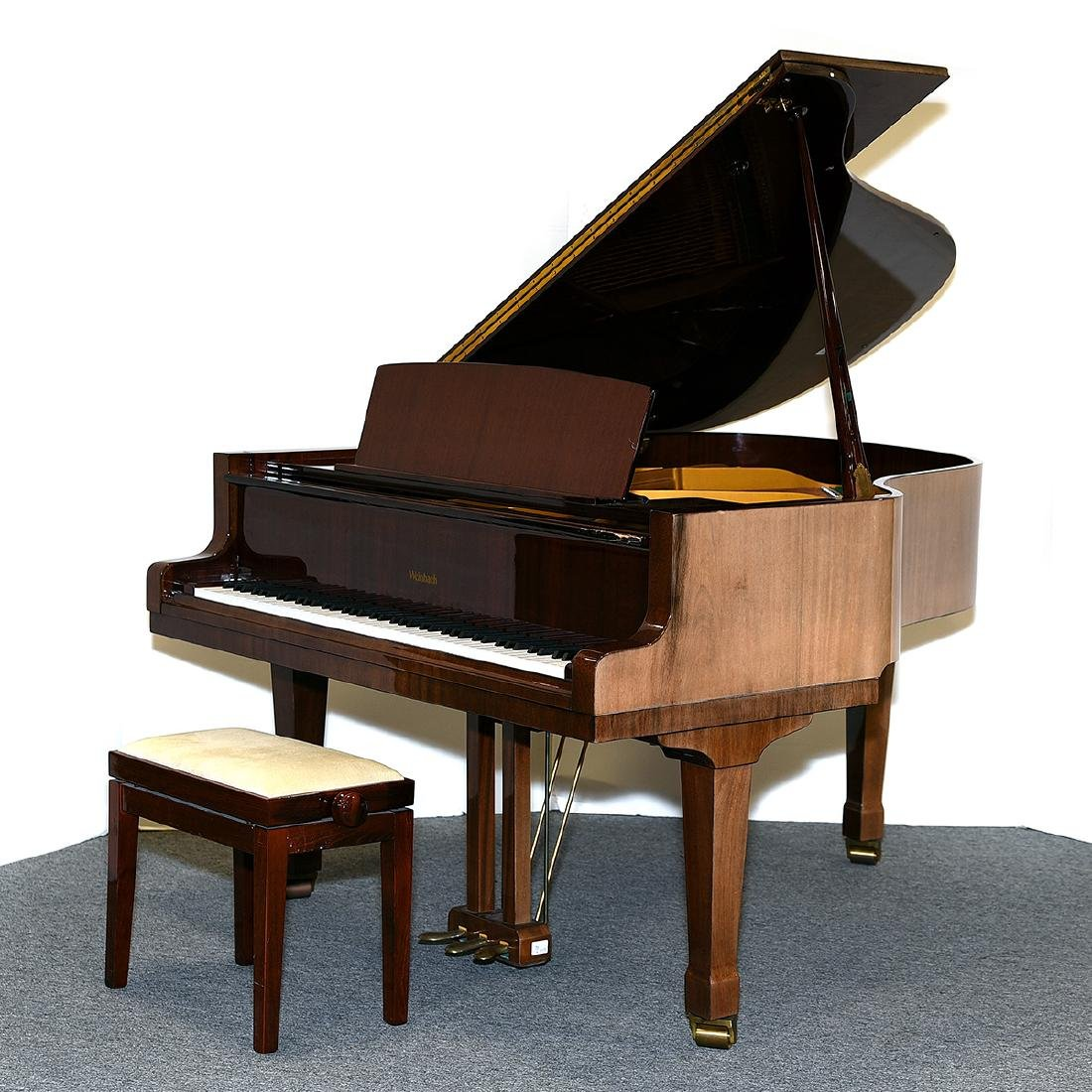 Weinbach Mahogany Cased Grand Piano with Bench, Czech