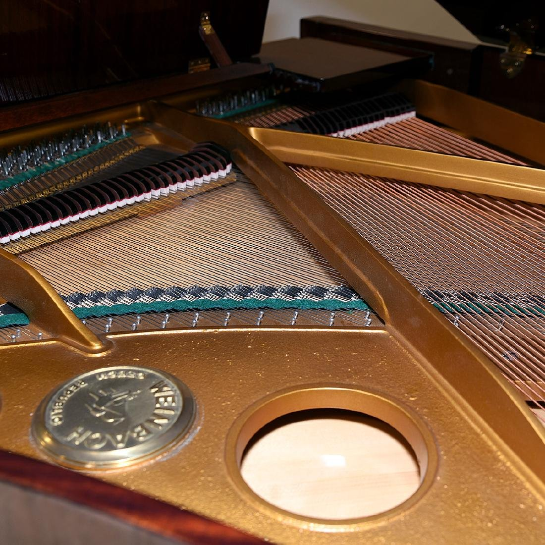 Weinbach Mahogany Cased Grand Piano with Bench, Czech - 5