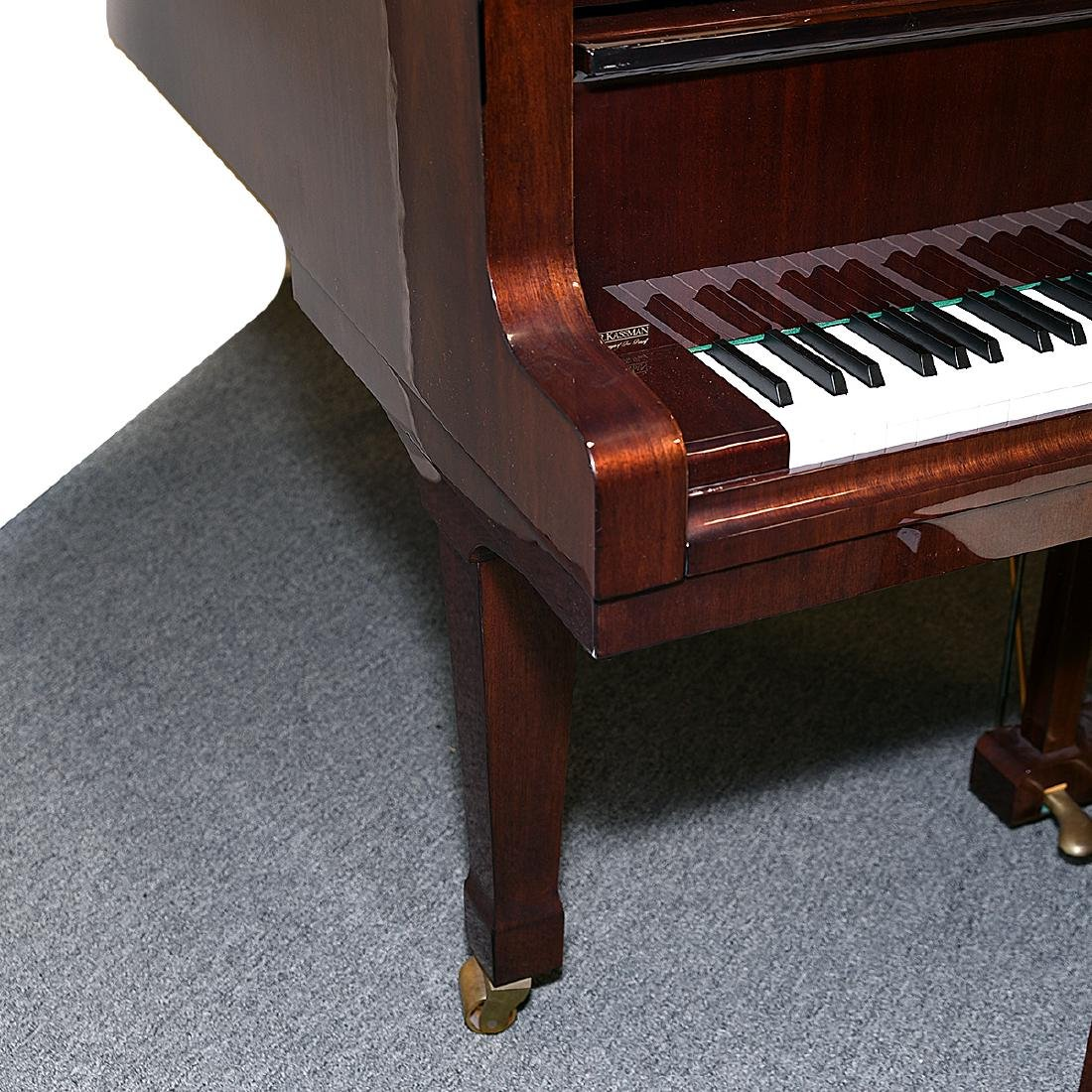 Weinbach Mahogany Cased Grand Piano with Bench, Czech - 7
