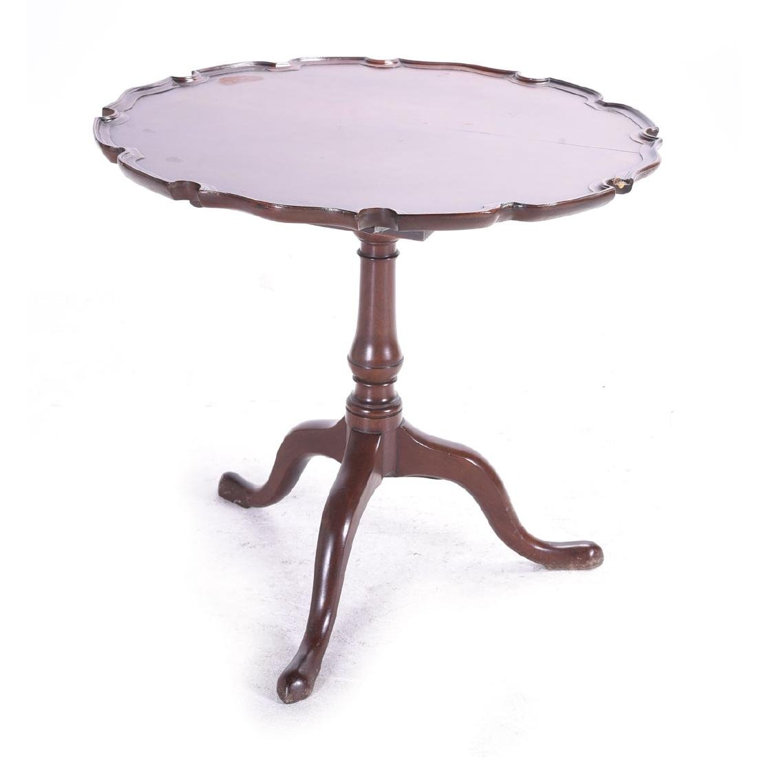 American Chippendale Mahogany Piecrust Tea Table,