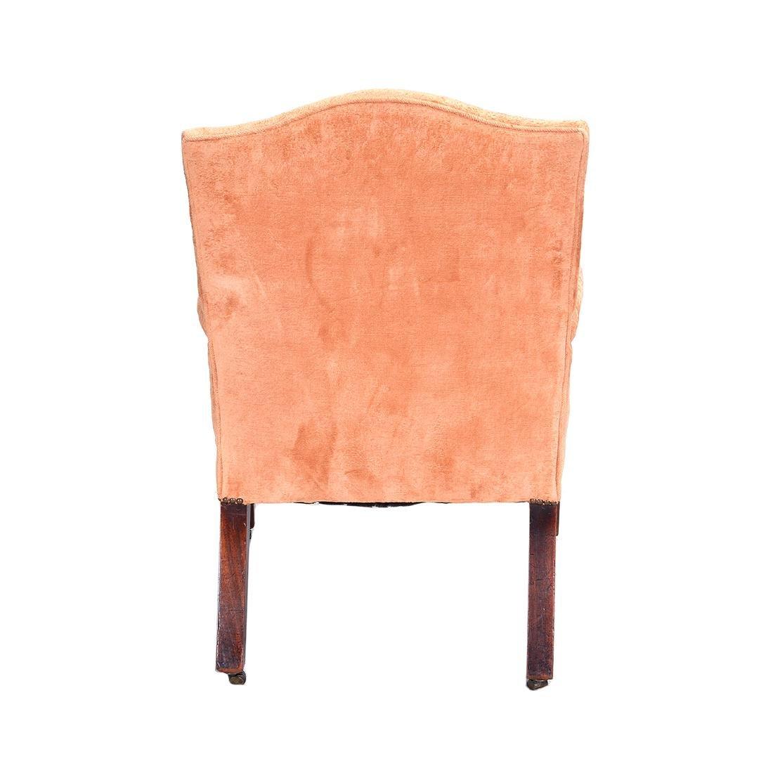 George III Mahogany Upholstered Open Armchair - 6