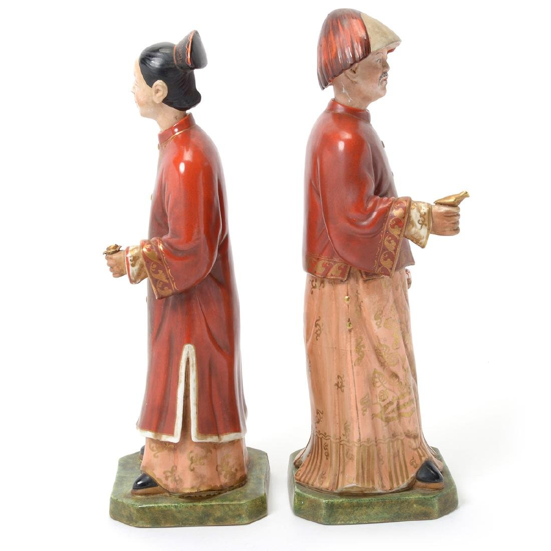 Pair of Italian Porcelain Nodder Figures of Chinoiserie - 2
