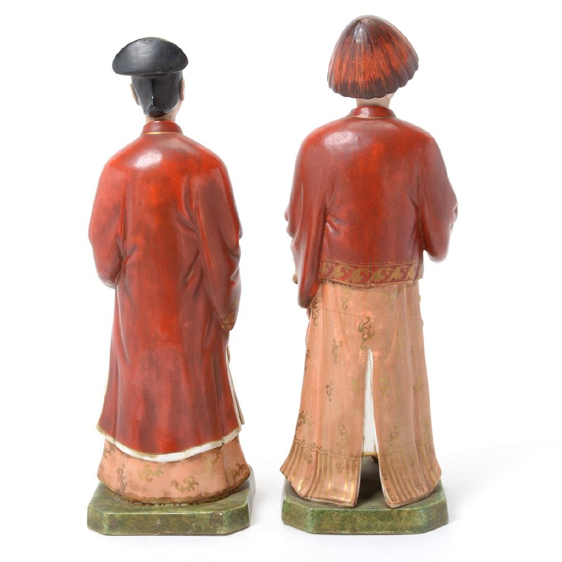 Pair of Italian Porcelain Nodder Figures of Chinoiserie - 3