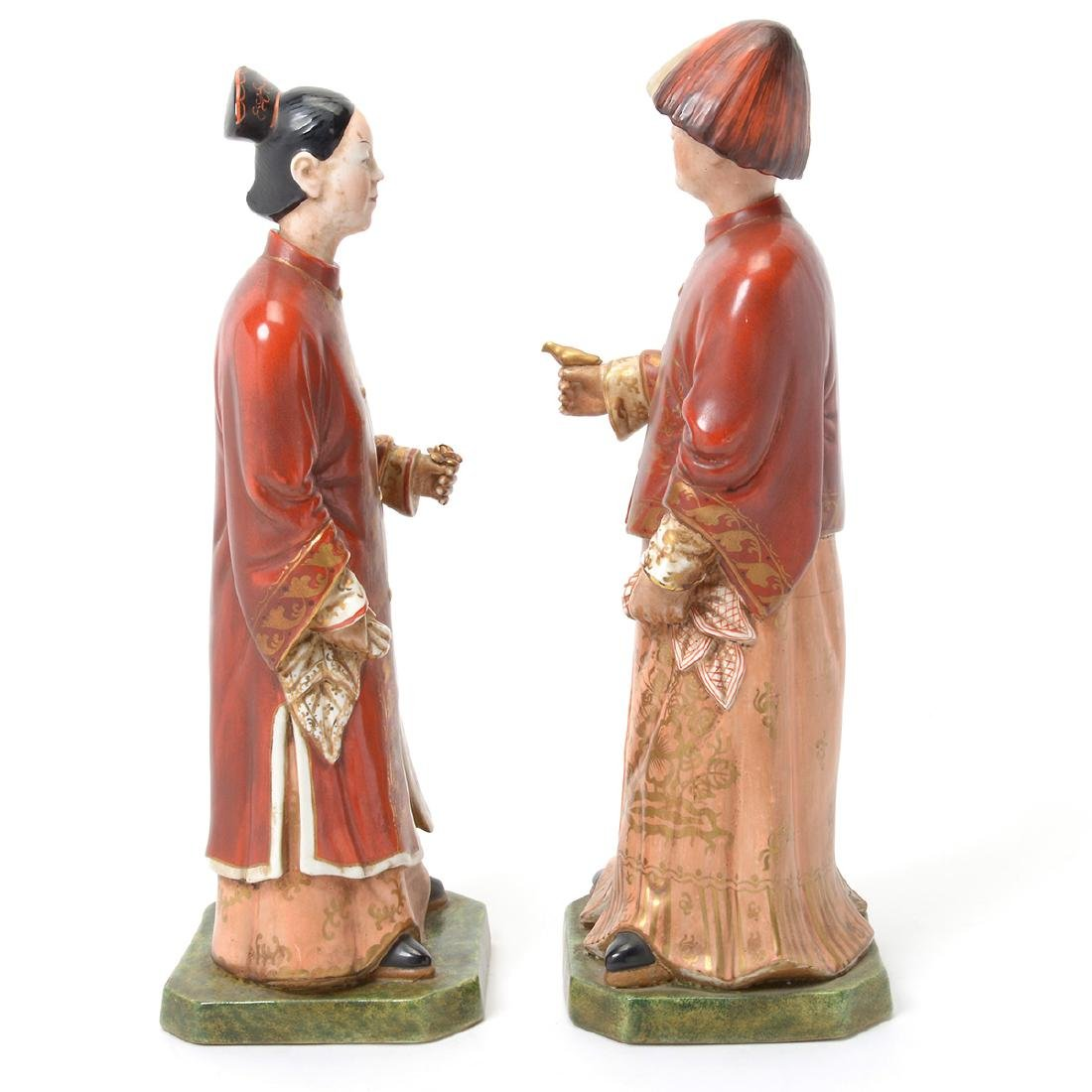 Pair of Italian Porcelain Nodder Figures of Chinoiserie - 4
