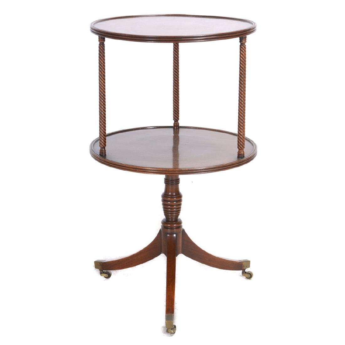 Late George III Two Tiered Tripod Accent Table
