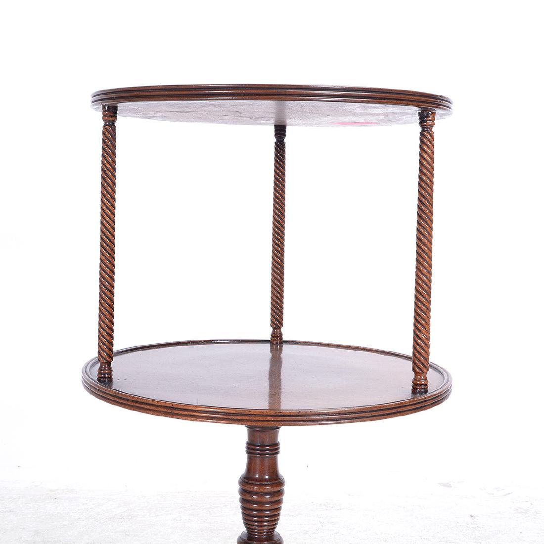 Late George III Two Tiered Tripod Accent Table - 3