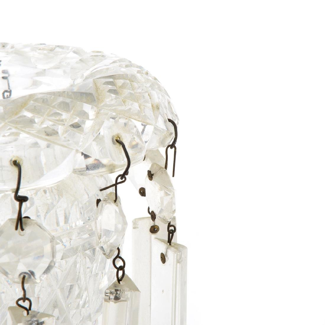 Pair of Victorian Cut Glass Lusters, Late 19th Century - 2