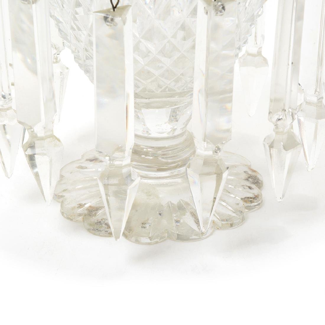Pair of Victorian Cut Glass Lusters, Late 19th Century - 3