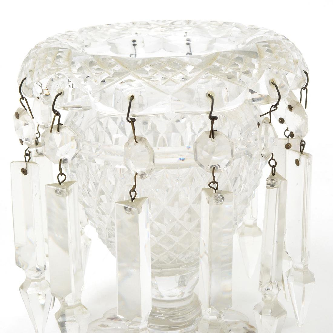 Pair of Victorian Cut Glass Lusters, Late 19th Century - 4