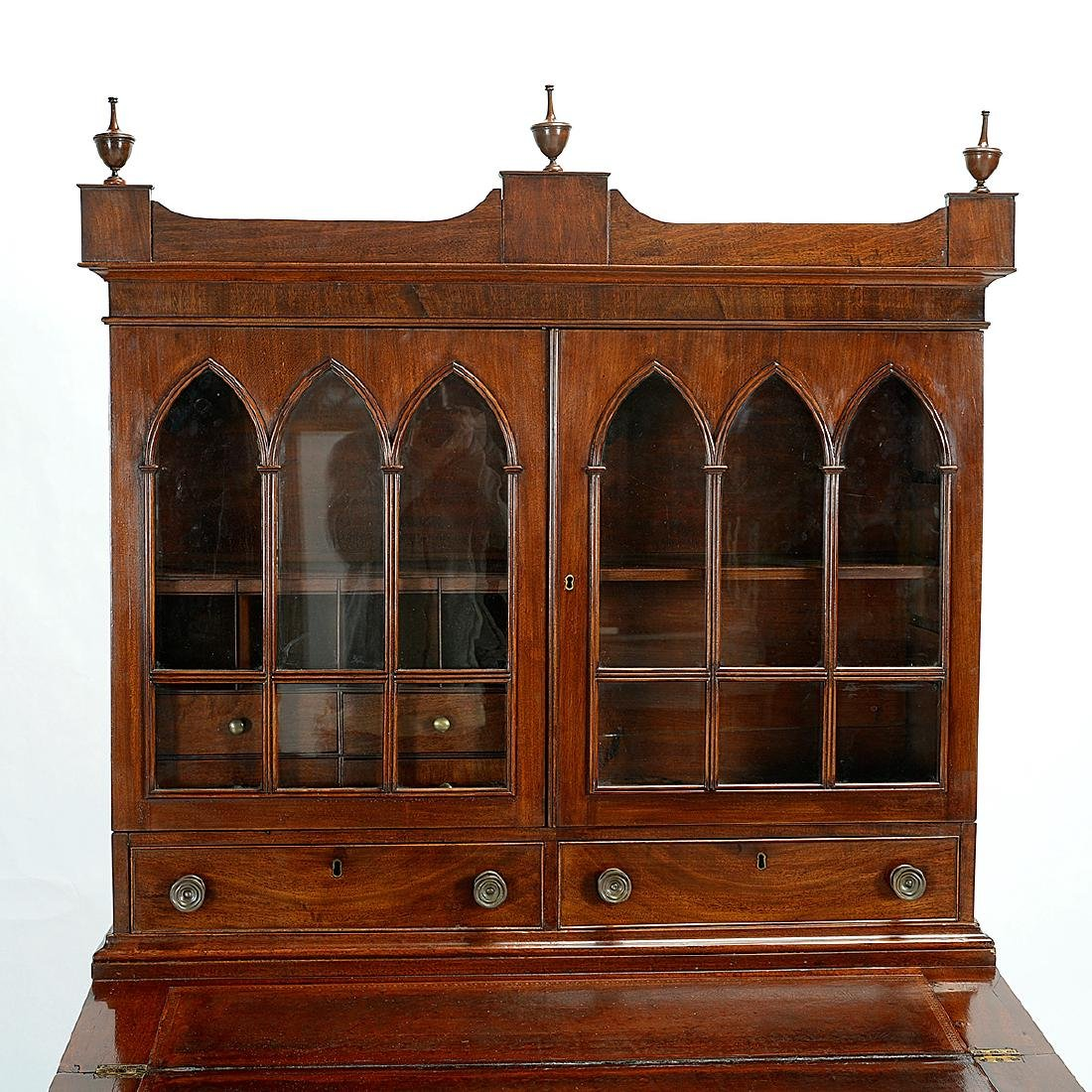 Federal Mahogany Secretary Bookcase - 2