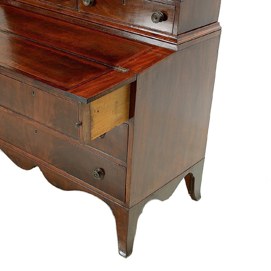 Federal Mahogany Secretary Bookcase - 3