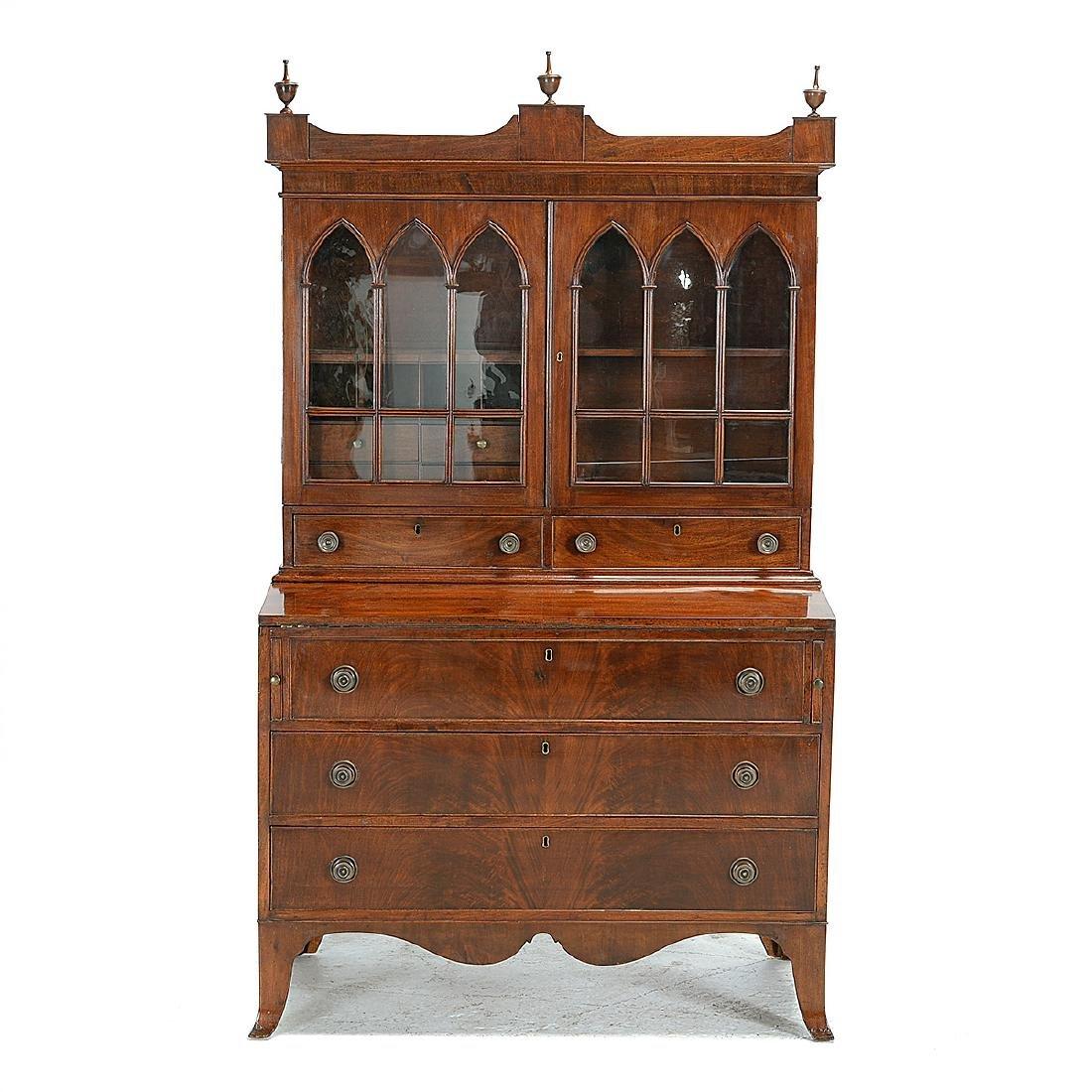 Federal Mahogany Secretary Bookcase - 6