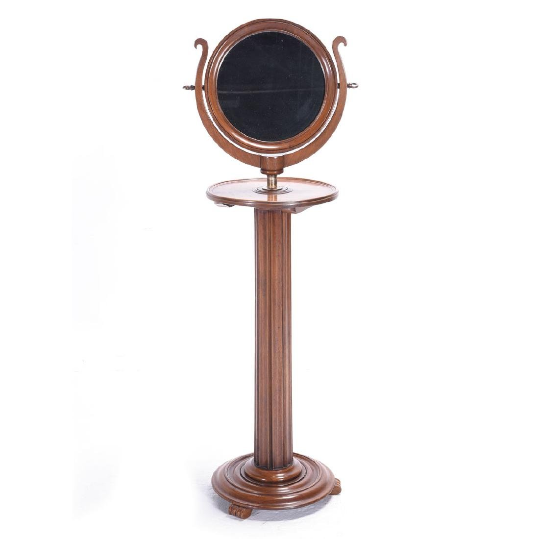 Continental Oval Dressing Mirror on Columnar Stand