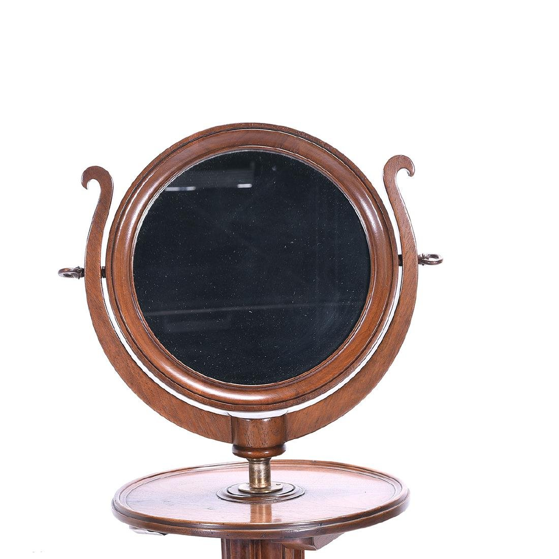 Continental Oval Dressing Mirror on Columnar Stand - 2
