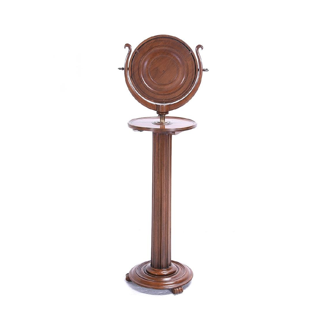 Continental Oval Dressing Mirror on Columnar Stand - 5