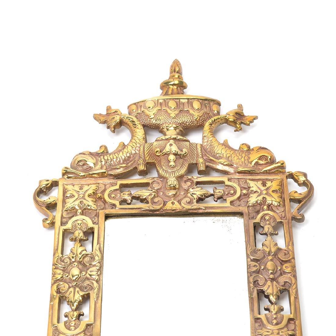 Three Renaissance Revival Brass Mirrored 2 Light - 2