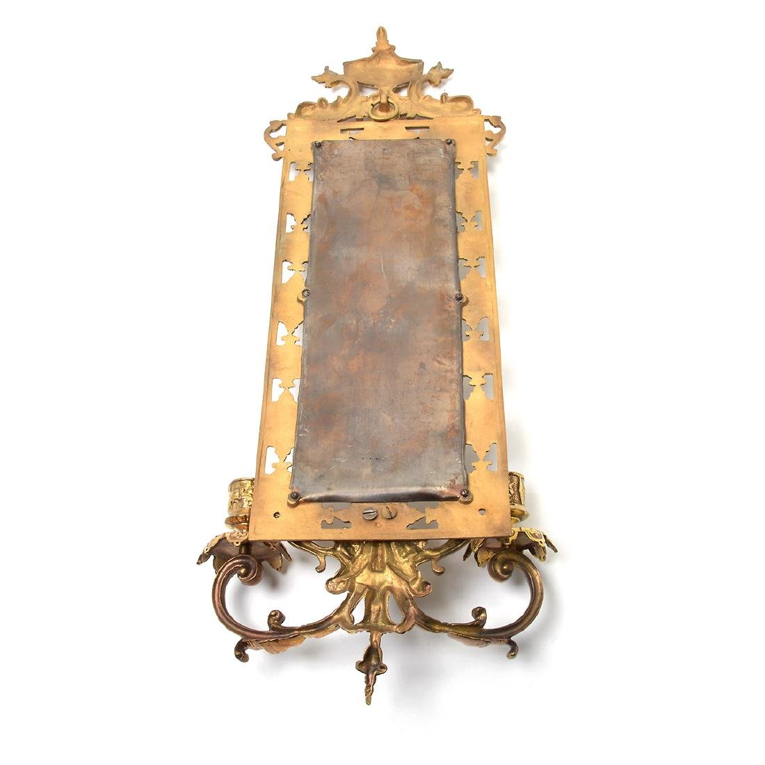 Three Renaissance Revival Brass Mirrored 2 Light - 4