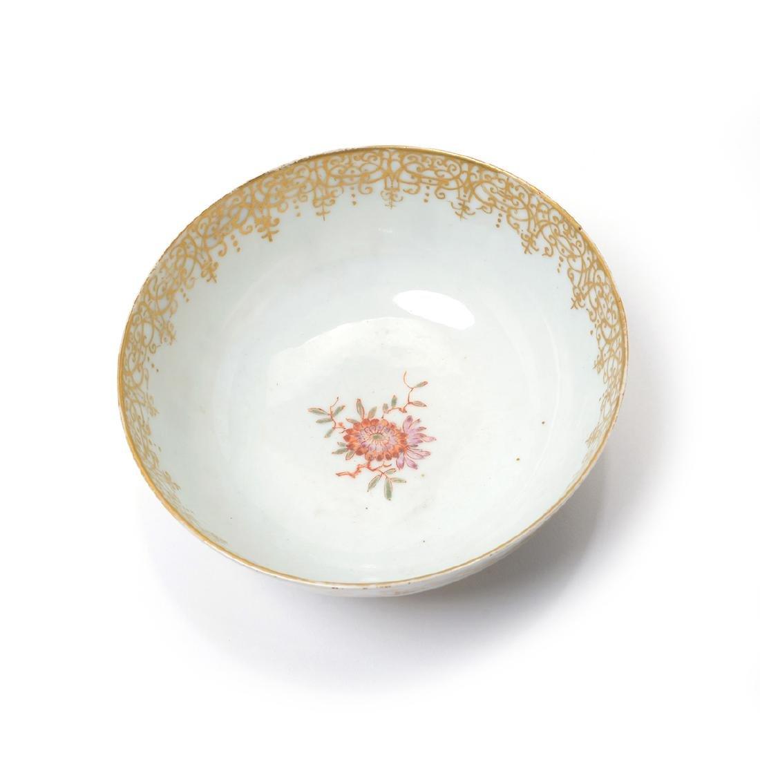 German Porcelain Bowl with Landscape Vignettes, 18th - 9