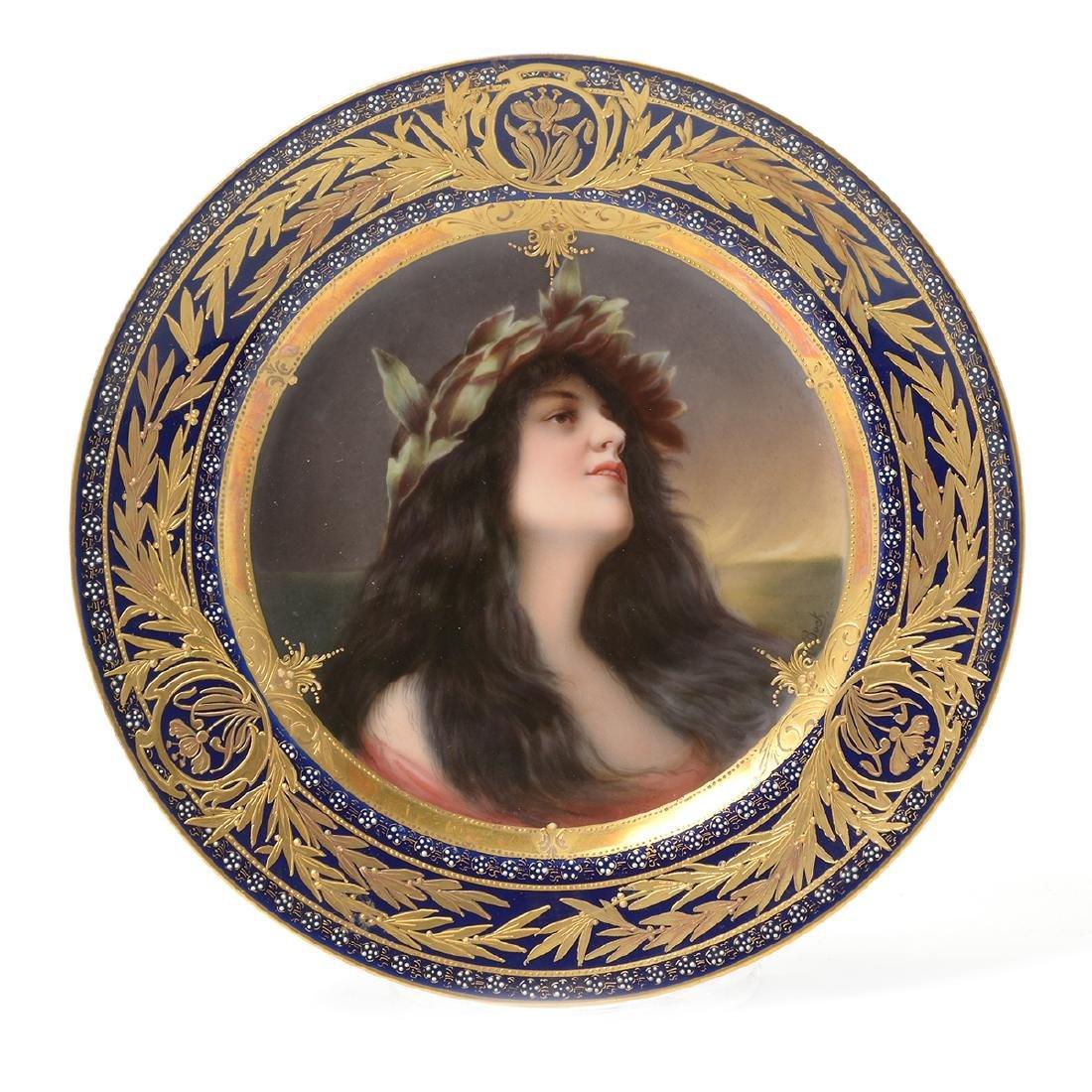 "Royal Vienna Porcelain Plate ""Daphne""."