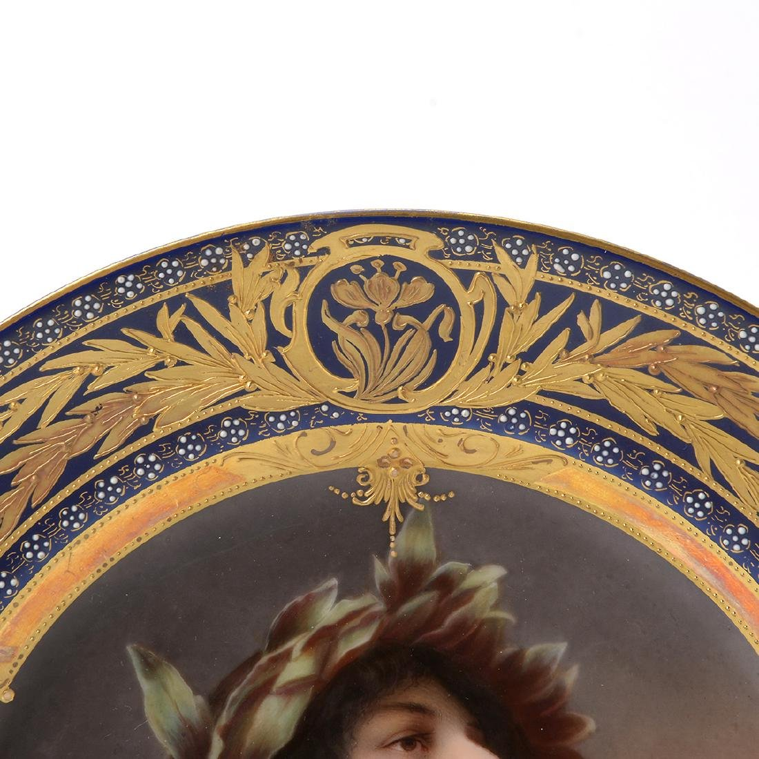 "Royal Vienna Porcelain Plate ""Daphne"". - 3"