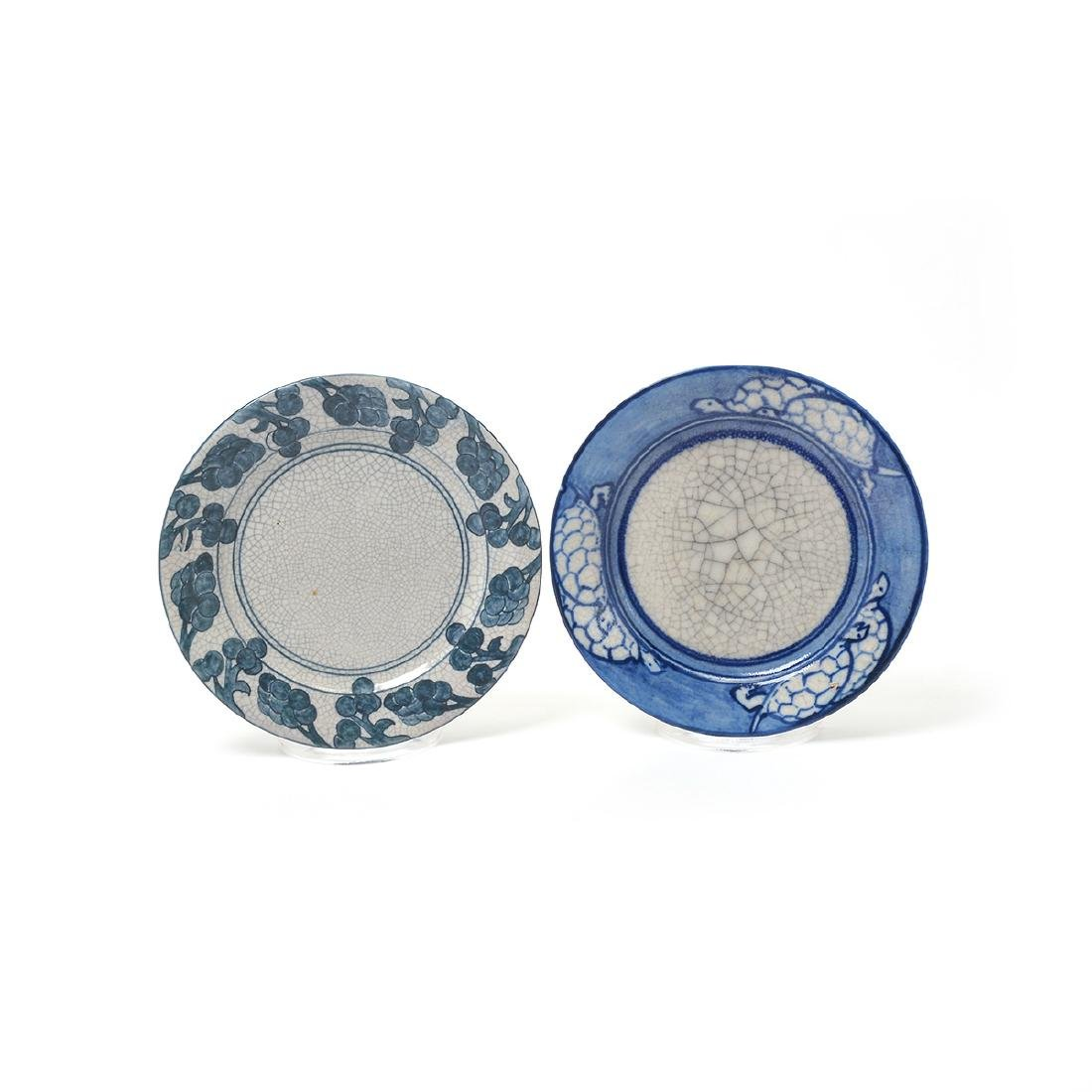 Lot of Dedham Art Pottery: three rabbit plates, a - 3