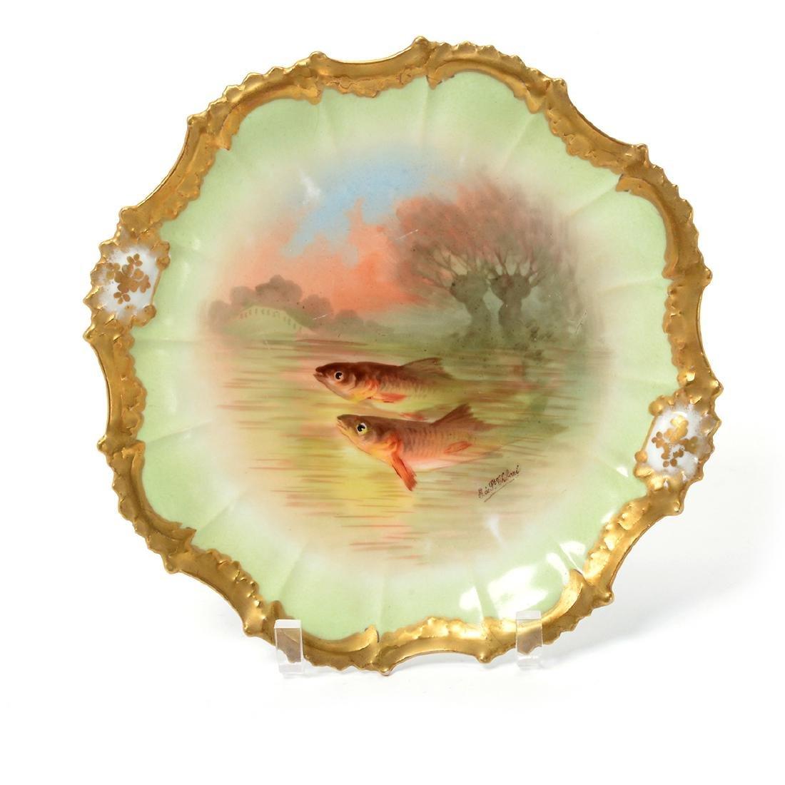 Limoges Handpainted Fish Set - 3