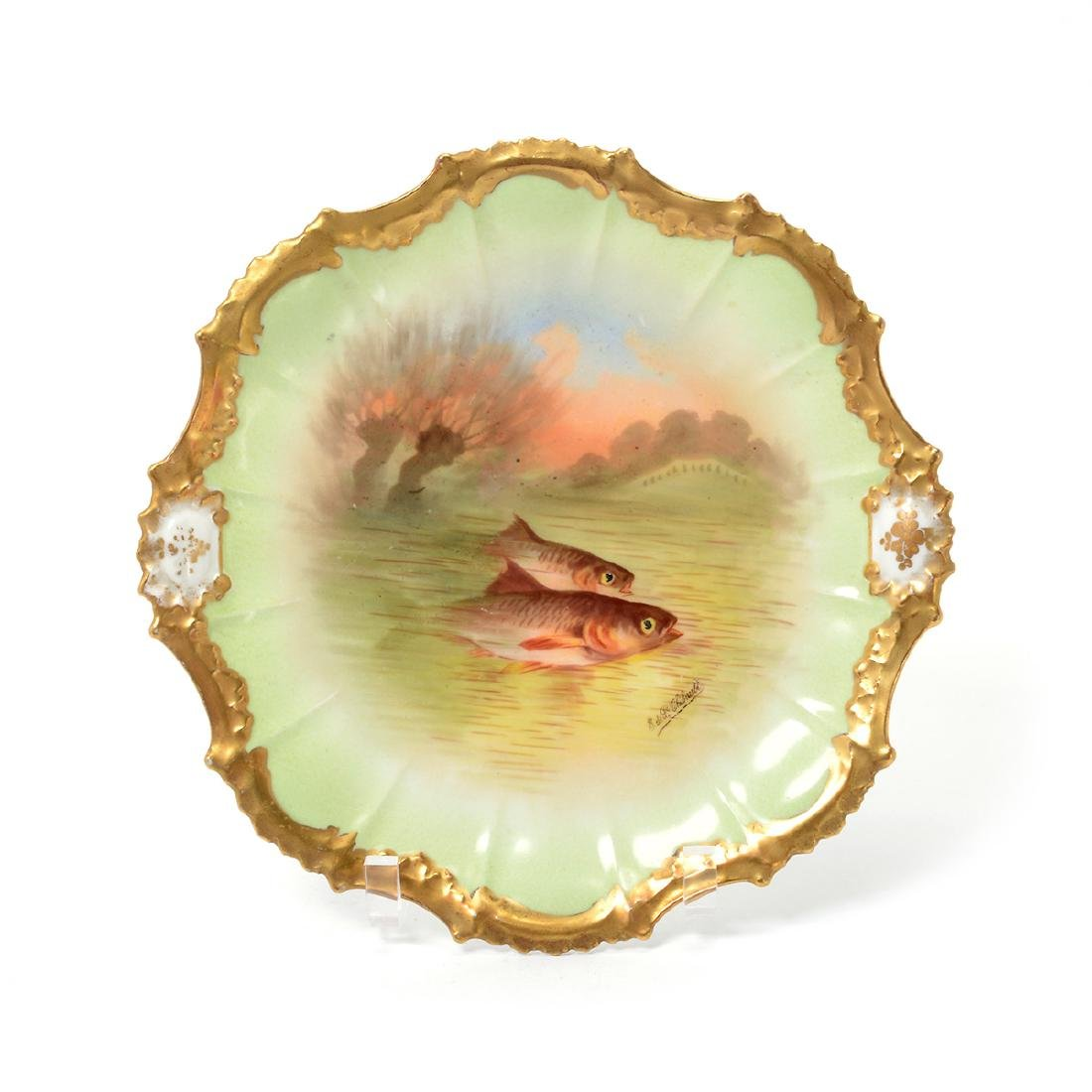 Limoges Handpainted Fish Set - 4
