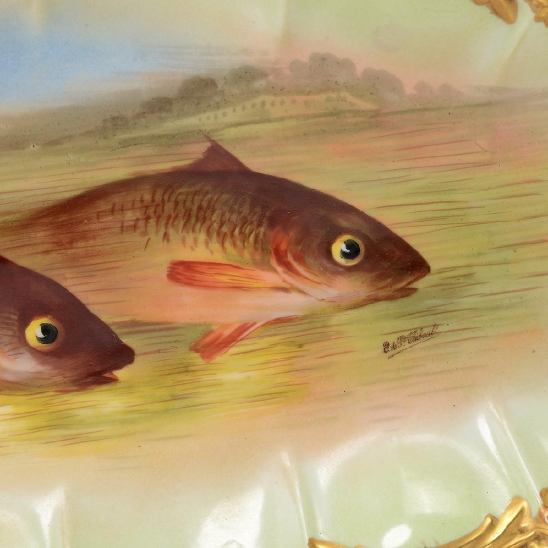 Limoges Handpainted Fish Set - 9